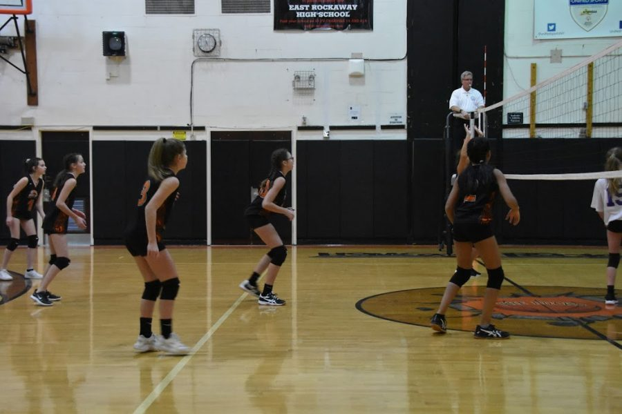 JH Volleyball playing Long Beach last year before Covid-19 changed the sport as we know it.