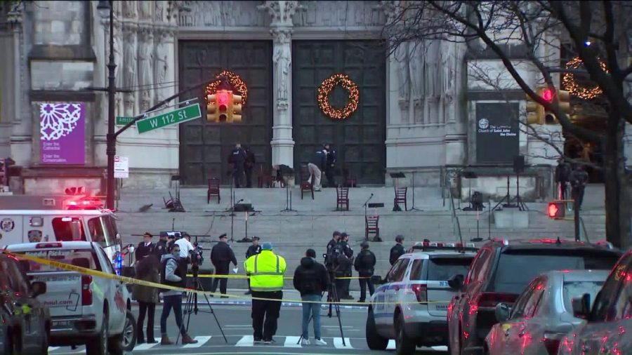 NYPD Protects Civilians in Manhattan Church Shooting
